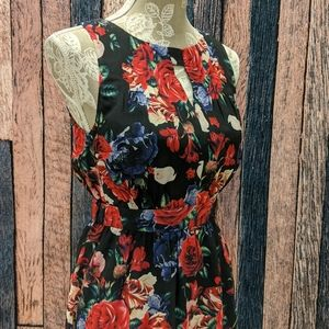 Flaunts and Needs Chiffon Dress in Black Floral